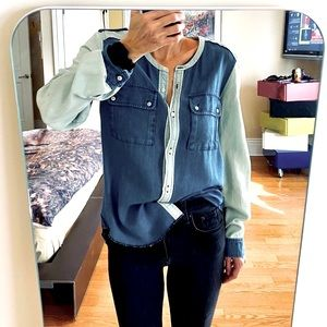 Wilfred 100% cotton two tone Denim top